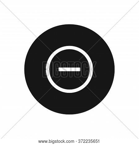 Minus Icon Isolated On White Background. Minus Icon In Trendy Design Style For Web Site And Mobile A