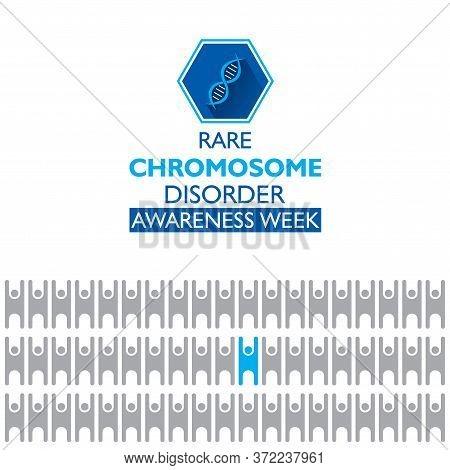 Creative Vector Illustration Of Rare Chromosome Disorder Awareness Week Concept Poster Design