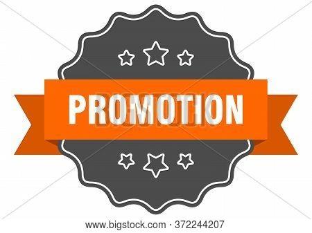 Promotion Isolated Seal. Promotion Orange Label. Promotion