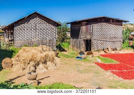 Village Houses In The Area Between Kalaw And Inle, Myanmar