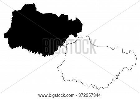 San Jose Del Monte City (republic Of The Philippines, Central Luzon Region) Map Vector Illustration,