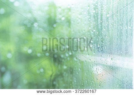 Raindrops On Foggy Glass.raindrops On Foggy Glass
