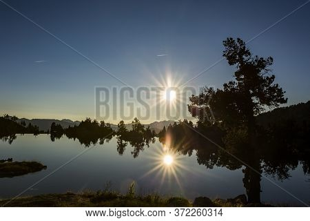 Sunrise In Josep Maria Blanc Refuge, Aiguestortes And Sant Maurici National Park, Spain