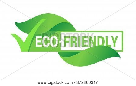 Eco Friendly Stamp (sticker) For Healthy Or Natural Food Products, Cosmetics Or Technology Packaging