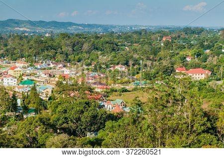 Aerial View Of Rural Landscape Near Pyin Oo Lwin, Myanmar