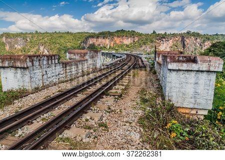 Gokteik Goteik Or Gok Teik Viaduct On The Railway Line Mandalay - Hsipaw, Myanmar