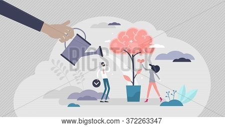 Improving Memory For Knowledge Remember Tiny Persons Vector Illustration. Thinking Method As Persona