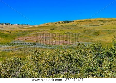 Rolling Hills On The Ranch. Glenbow Ranch Provincial Recreation Area, Alberta, Canada
