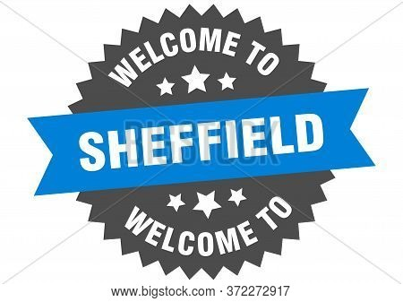 Sheffield Sign. Welcome To Sheffield Blue Sticker