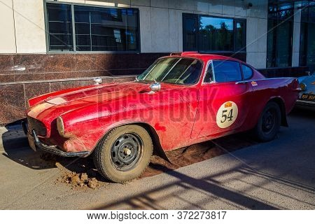 Side View Of Volvo P1800s, Swedish Sports Car 1968. The 7th Peking To Paris Motor Challenge. Ufa, Ru