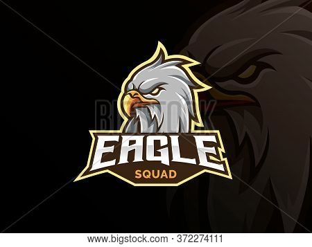 Eagle Mascot Sport Logo Design. Bird Animal Mascot Vector Illustration Logo. Wild Eagle Head Mascot,