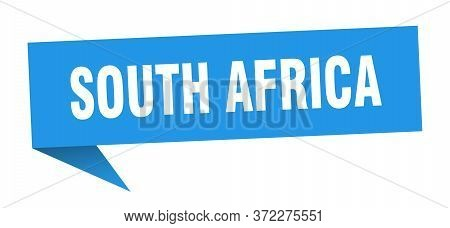 South Africa Sticker. Blue South Africa Signpost Pointer Sign