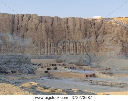 View Of The Mortuary Temple Of Hatshepsut In Luxor, Egypt