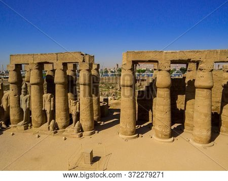 View Of The Luxor Temple. In Luxor, Egypt