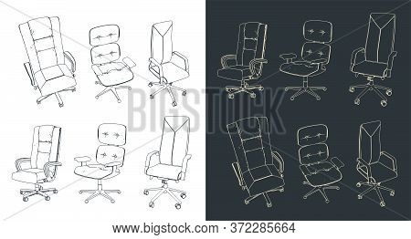 Office Chairs Drawings Set