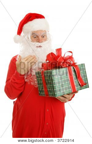 Sleepy Santa Surprised By Gift