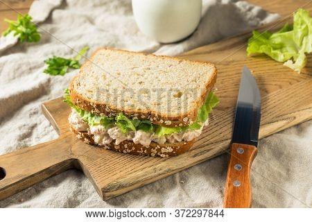 Homemade Fresh Tuna Salad Sandwich