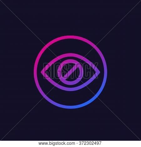 Hide Or Hidden Content Vector Icon, Eps 10 File, Easy To Edit