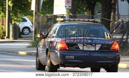 Atlanta Police Car In Downtown Atlanta - Atlanta, Georgia - April 22, 2016