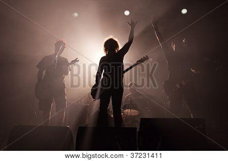 sagome di rock band