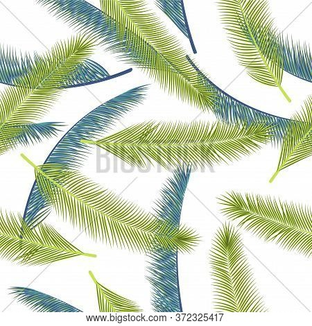 Natural Feather Fluff Vector Seamless Ornament. Cute Fabric Print. Tribal Boho Feather Fluff Fabric