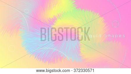 Abstract Color Liquid. Wave Wallpaper. Pastel Vibrant Movement. Vector Futuristic Banner. Trendy Mot
