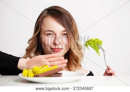 Young Woman Holding Green Broccoli, Healthy Way To Lose Weight