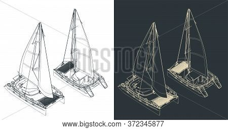 Catamaran Isometric Drawings