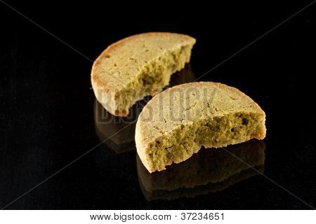 tasty cookie with green tea poster