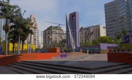 Pershing Square Park Los Angeles Downtown - Los Angeles, Usa - March 18, 2019