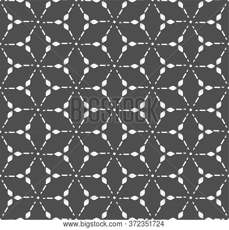 Repetitive Fashion Graphic Hexagon, Shapes Pattern. Repeat Line Vector Poly Decoration Texture. Cont