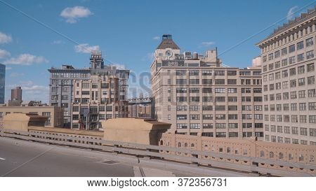 Dumbo Building In Brooklyn - View From Brooklyn Bridge - New York City, United States - April 2, 201