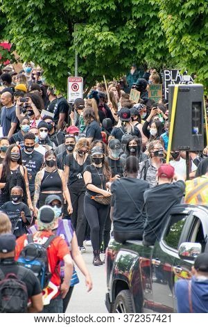 Anti-racism March.     Vancouver  Bc Canada    June 19th 2020