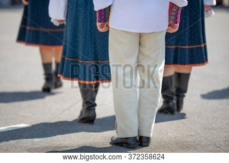 Slovakian Dancers Wearing Traditional Clothing, Performing Traditional Dances