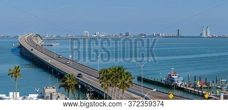 View Of South Padre Island, Across The Laguna Madre, From Port Isabel