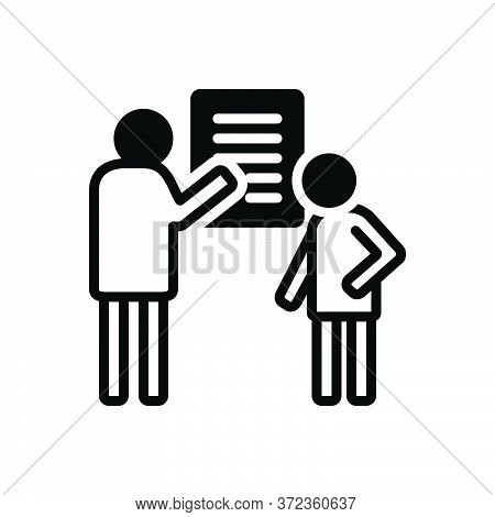 Black Solid Icon For Debrief Communication Counseling Consultation Investigation Inquiry