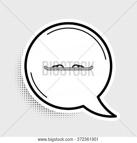 Line Snowboard Icon Isolated On Grey Background. Snowboarding Board Icon. Extreme Sport. Sport Equip