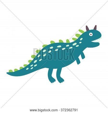 Cute Dinosaur Carnotaurus. Dinosaur Vector Design Character