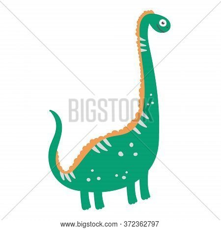 Cute Dinosaur Diplodocus. Dinosaur Vector Design Character