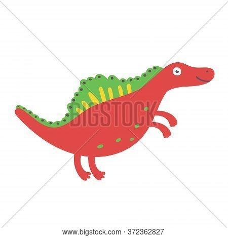 Cute Dinosaur Spinosaurus. Dinosaur Vector Design Character