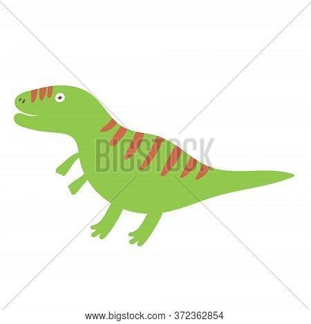 Cute Tyrannosaurus Dinosaur. Dinosaur Vector Design Character