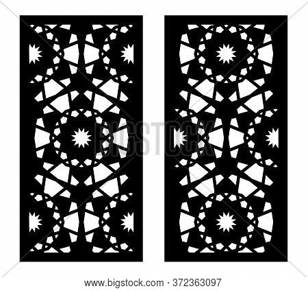 Arabic Cnc Vector Panel. Laser Cutting. Template For Cnc. Interior Partition In Arabic Style. Ratio