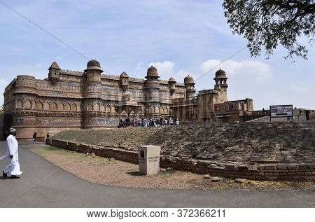 Gwalior, Madhya Pradesh/india : March 15, 2020 - 'gwalior Fort' It Is Hill Fort Near Gwalior And Des