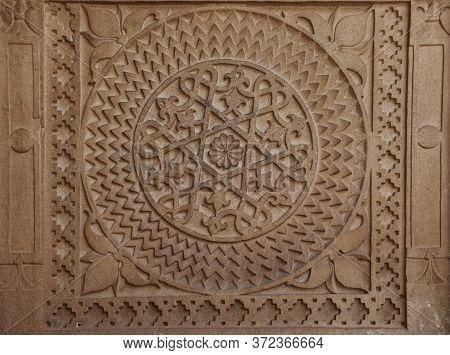 Gwalior, Madhya Pradesh/india : March 15, 2020 - Designs On Walls Of Man Singh Palace In Gwalior For