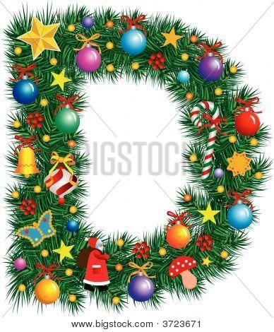 Alphabet Letter D - Christmas Decoration