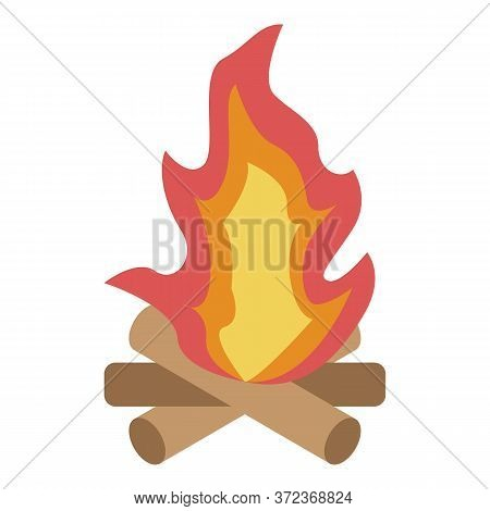 Campfire Icon. Isometric Of Campfire Vector Icon For Web Design Isolated On White Background