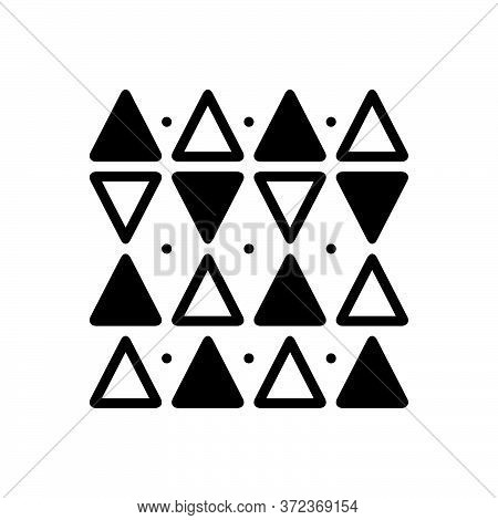 Black Solid Icon For Discrepancies Shape Triangle Pattern  Opposite