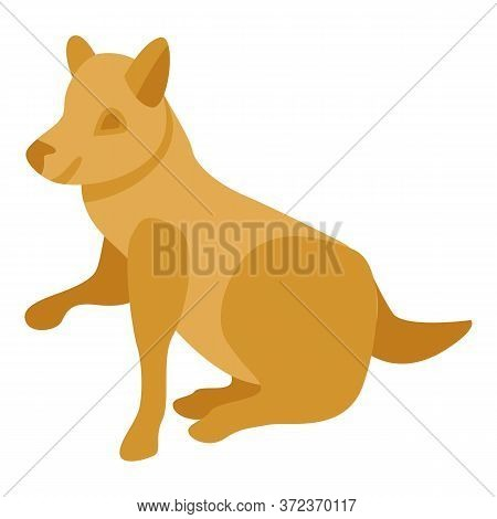 Dog Give Paw Icon. Isometric Of Dog Give Paw Vector Icon For Web Design Isolated On White Background