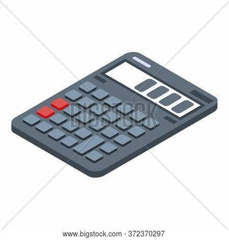Realtor Calculator Icon. Isometric Of Realtor Calculator Vector Icon For Web Design Isolated On Whit