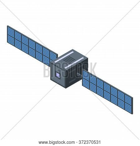 Space Satellite Icon. Isometric Of Space Satellite Vector Icon For Web Design Isolated On White Back